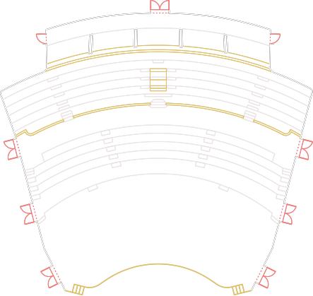 Radio Hall Seats Numbering Plan